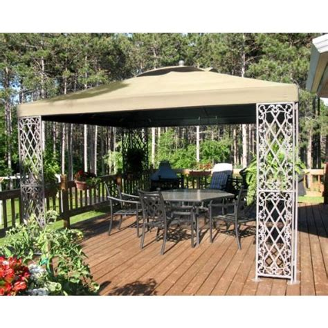 Best Gazebo 500 Garden Winds 12 X 12 Lattice Gazebo Replacement Canopy