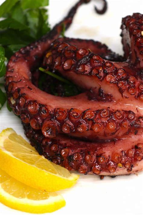 tender sous vide octopus  lemon butter sauce