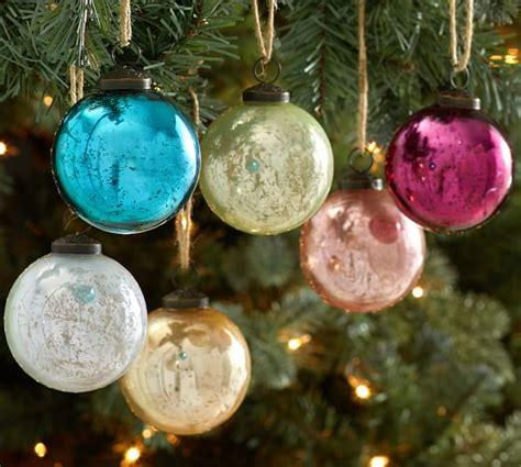 jewel tone mercury glass ball ornaments set of 6