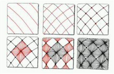 easy zentangle pattern ideas step by step zentangle patterns step by step google search