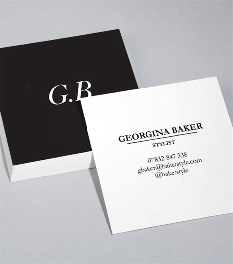 Browse Square Business Card Design Templates Square Business Card Template Free