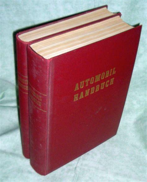 Unterhalt Motorrad by Automobil Handbuch Von Kramer Zvab