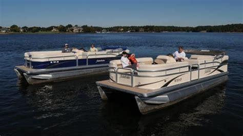 deck boat vs pontoon cost tap fins vs lifting strakes pontoon deck boat magazine