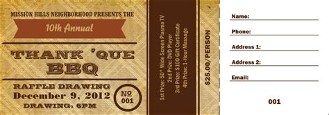 bbq ticket template free barbecue ticket template bbq plate ticket template