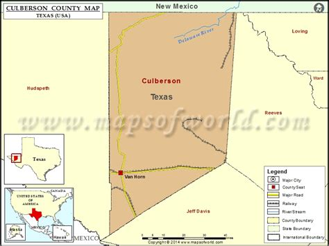 culberson county map map  culberson county texas