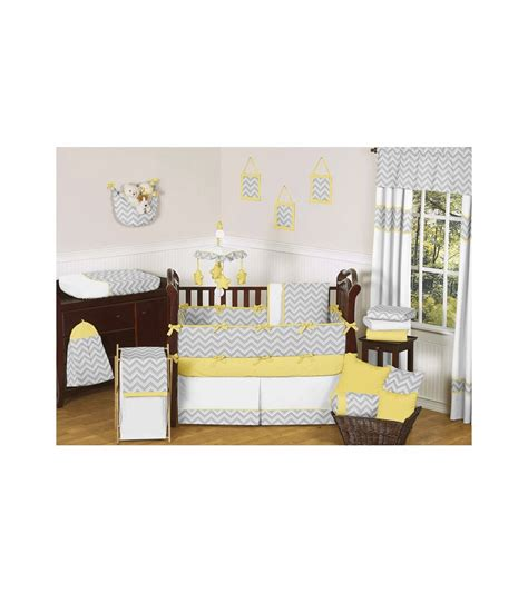 yellow nursery bedding yellow and grey chevron crib bedding gray and yellow zig