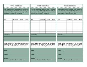 feedback request template cards customer feedback card template