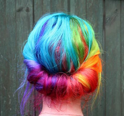 rainbow color hair ideas beautiful rainbow hair hair colors ideas