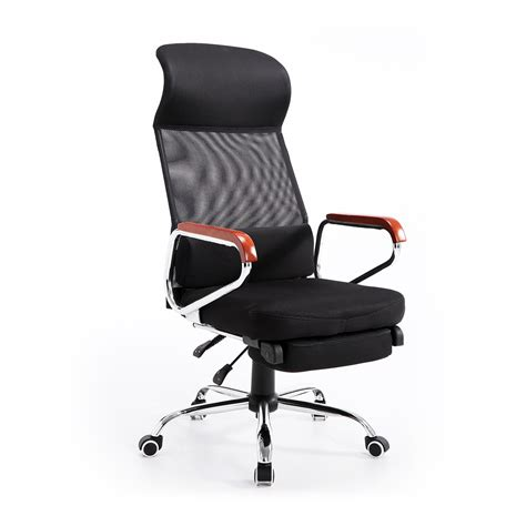 Reclining Office Chair With Leg Rest by Homcom Mesh High Back Reclining Office Chair With Foot
