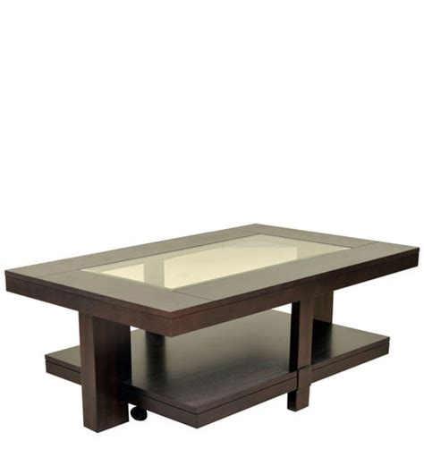 table with in center buy joss veener center table in walnut colour by