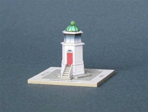 lighthouse template craft harbour light lighthouse free building paper model