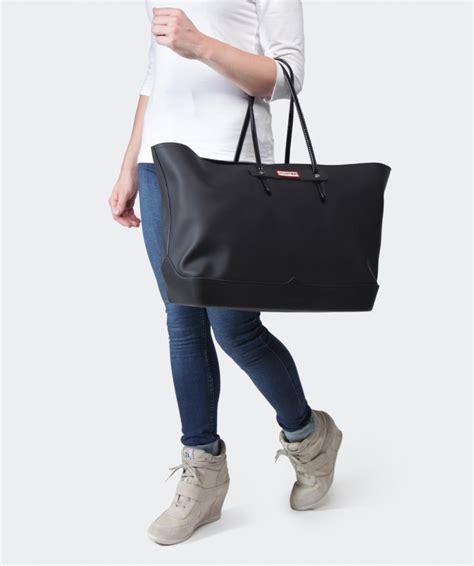Original Zara Bag With Metal Clip lyst original rubber tote bag in black for