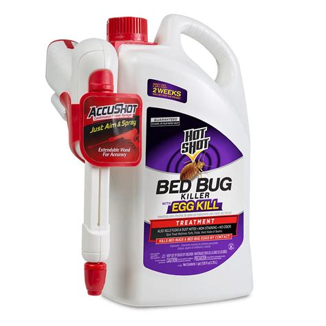 hot shot bed bug  flea killer  gal ready   accushot sprayer hg   home depot