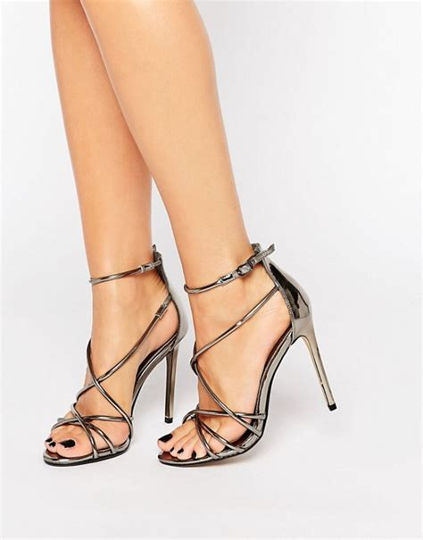 pewter strappy high heels office office spindle pewter metallic strappy heeled sandals