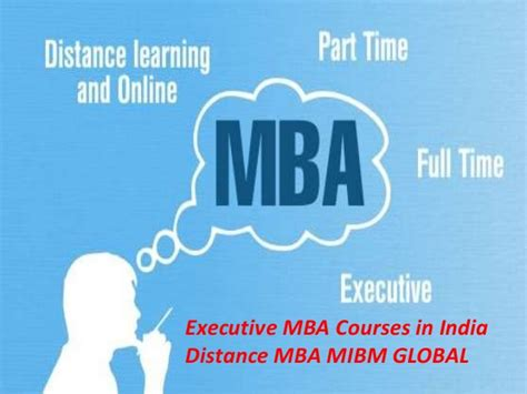 Mba Distance Learning Part Time by Executive Mba Courses In India Distance Mba In Noida