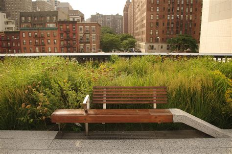 highline benches the high line reclaimed teak decking and benches by terramai