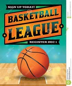 basketball league flyer illustration stock vector image
