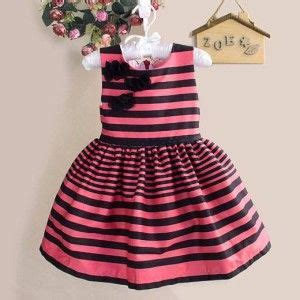 Dress Pink Kutung dress black stripe pink dress pink