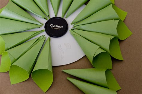 How To Make A Paper Wreath - budget birthdays how to make a paper cone wreath