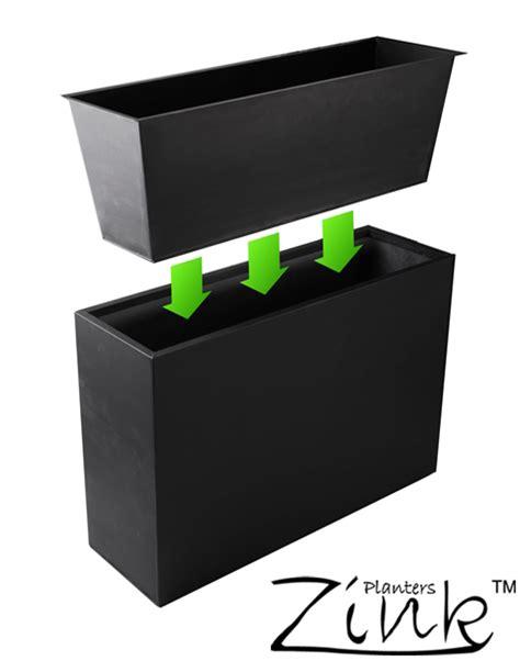zinc trough planter l95cm x w35cm with insert