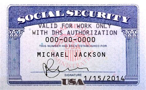Social Security Card Template by Image Gallery Ssn Card