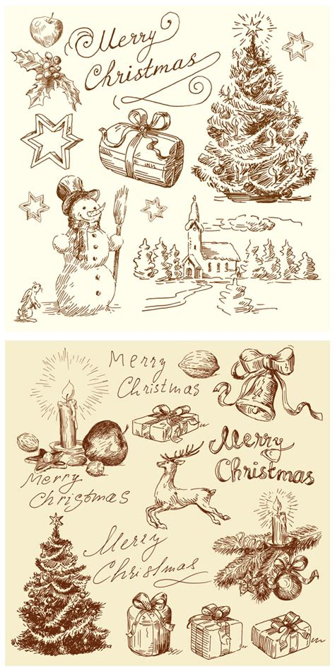 pattern natalizi illustrator 4 designer vintage christmas illustration vector