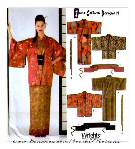 kimono pattern cutting japanese kimono obi set simplicity 5839 sewing pattern