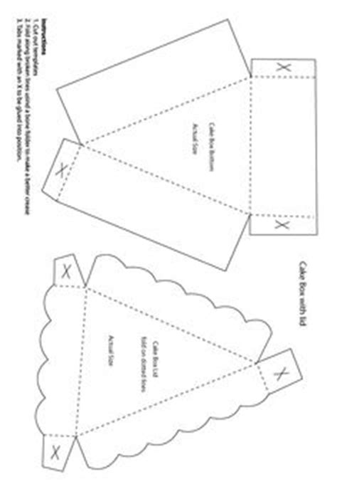 cake slice boxes template 1000 images about boxes and bags on pillow