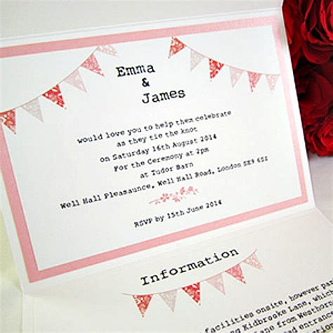 summer fete wedding invitations summer fete portobello pocketfold wedding invitation