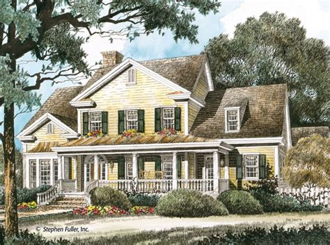 home planners inc house plans house plan timberlake stephen fuller inc home house porch and luxury