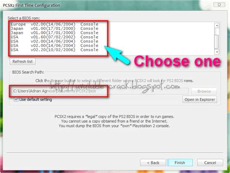 bios file from your playstation 2 console pcsx2 0 9 4 ps2 bios