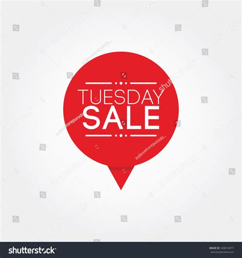 Sales And More Coming Tuesday The Sales by Tuesday Sale Stock Vector 528014077