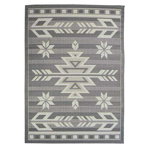 area rugs southwestern design donnieann bahamas 672 grey color southwestern design 5 x7 indoor outdoor area rug home home