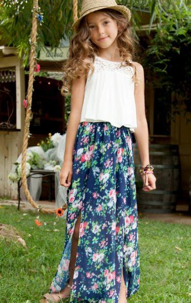 tween stores ages 10 12 tween garden stroll maxi dress 7 years only