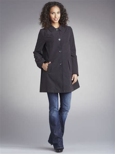 womens black swing coat john lewis women carol swing coat black in black lyst
