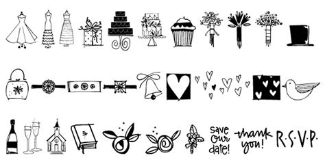 Wedding Font Doodles by Wedding Doodles Font By Outside The Line Font Bros