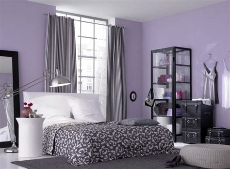 Bedroom Colour Schemes by Light Purple Walls