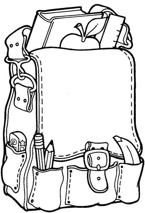 school bag school coloring pages  kids