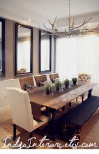 Farm Style Dining Room Table black and espresso farmhouse reclaimed wood plank style