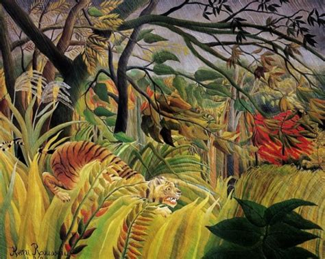 jungle painting artists henri rousseau s jungle paintings
