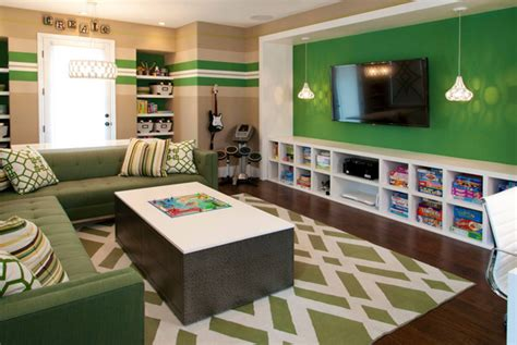 kids gaming room with storage and organization