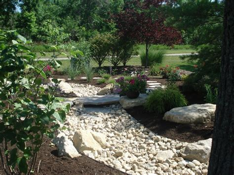 landscape with creek bed residential landscapes