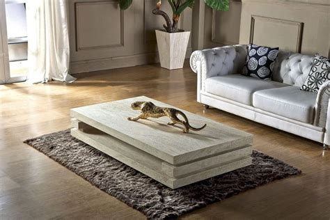 stone coffee tables with modern style high end living room furniture iran travertine stone