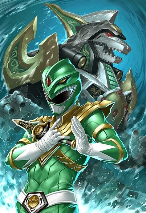 painting power rangers the green ranger summons his dragonzord in this awesome