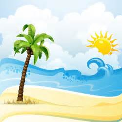 cartoon tropical beach vector 01 vector cartoon free download