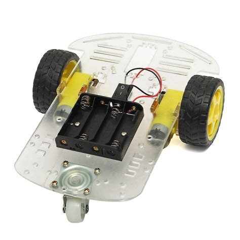 Smart Robot Car Chassis Chasis Kit Speed Encoder 2wd For Arduino 2wd smart motor robot car chassis battery box kit speed