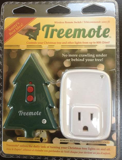 treemote wireless christmas tree shaped remote switch