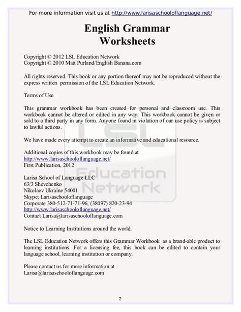 Esl Grammar Worksheets Pdf by Grammar Worksheets Pdf Worksheets Releaseboard Free