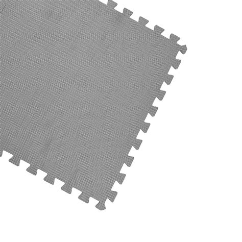 gray 128 sqft exercise play foam floor flooring mat