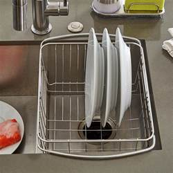 Kitchen Sink Dish Drainers Stainless Steel In Sink Dish Drainer The Container Store